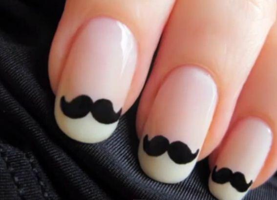 moustache-nail-art