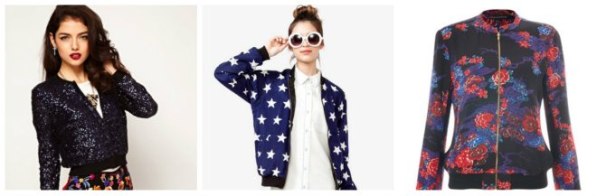 collage bomber jacket