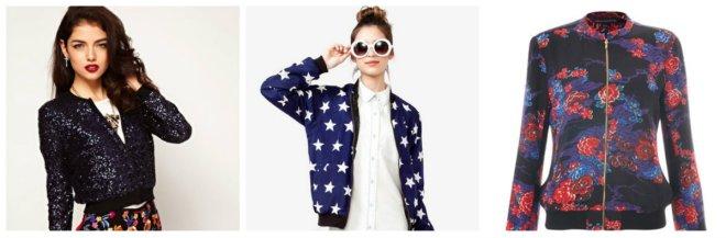 collage bomber jacket