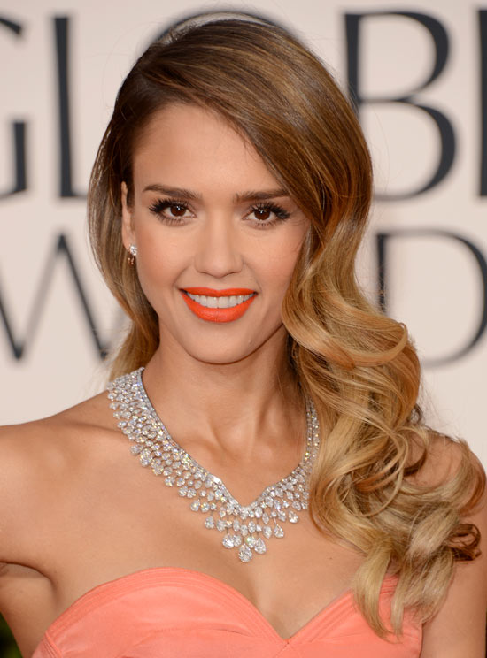 jessica-alba-makeup-2013-golden-globes